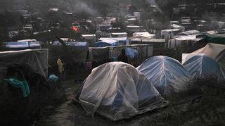 Morian pakolaisleiri Lesboksella, Kreikassa.
