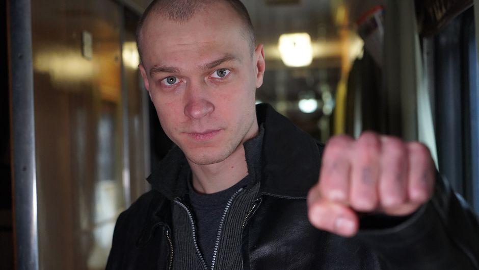 Jura Borisov Hytti nro 6 -elokuvan kuvauksissa.