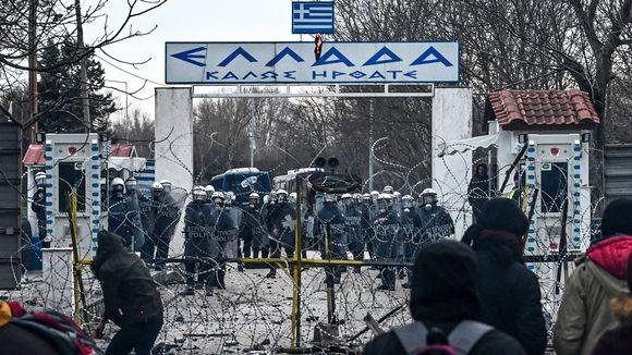 Yhteenotto Kreikan ja Turkin rajalla 29. helmikuuta.