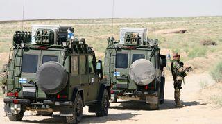 Suomalaisia rauhanturvajoukkoja Afganistanissa.