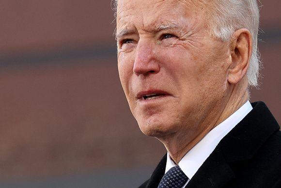 Joe Biden muistotilaisuudessa Washingtonissa.