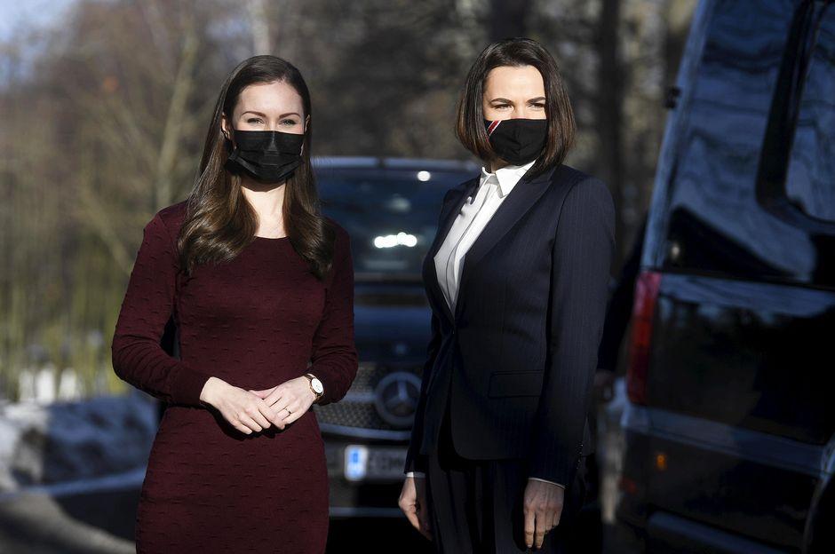 Sanna Marin ja Svetlana Tsihanouskaja