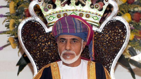 Omanin sulttaani Qaboos bin Said Al-Said maan neuvoa-antavan neuvoston vuosittaisen istunnon avajaisissa.