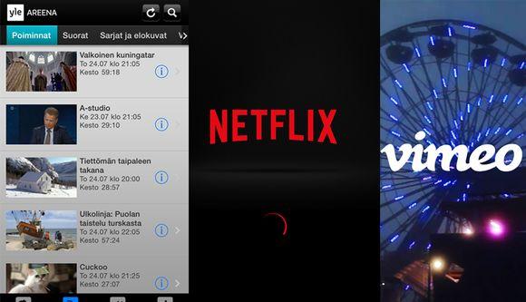 Yle Areena, Netflix, Vimeo.