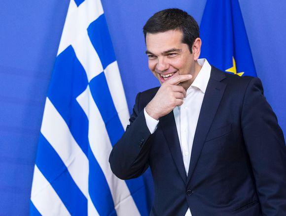 Kreikan pääministeri Alexis Tsipras Brysselissä 22. kesäkuuta.