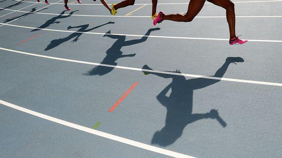 Naisten viestijuoksu Moskovan maailmamestaruuskisoissa 2013