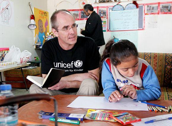 Unicefin koulu Bekaan laaksossa Libanonissa