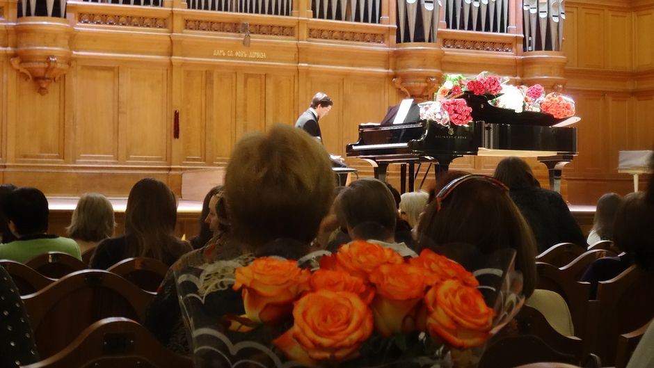 Moskovan konservatorion konserttisali.