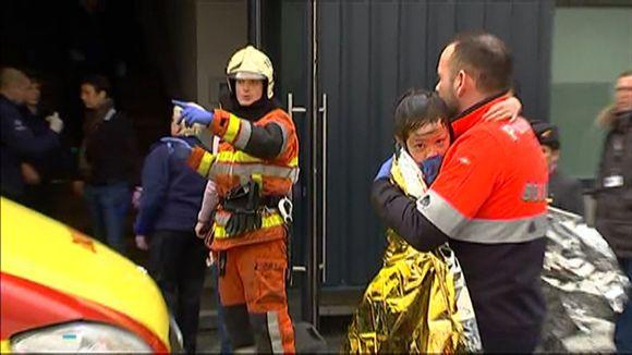 Pelastustoimia Brysselin lentokentällä