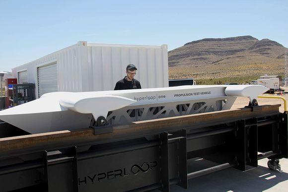 Hyperloop One -tekniikkaa testattiin Nevassa Yhdysvalloissa 11. toukokuuta 2016.