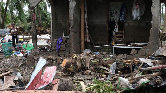 Hurrikaani-Matthew aiheutti suurta tuhoa Haitissa. Kuva Les Cayesista 6.10. 2016.