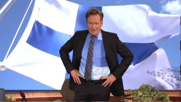 Видео: Conan O'Brian lähettää Suomelle Youtube-terveiset