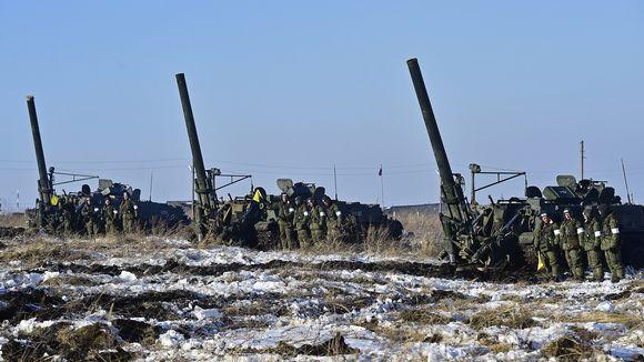 Venäjän sotaharjoitus Ussuriyskissa 17. marraskuuta 2016.