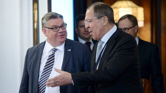 Venäjän ulkoministeri Sergei Lavrov (oik.) ja Suomen ulkoministeri Timo Soini (vas.) tapasivat kesäkuussa 2016 Moskovassa.
