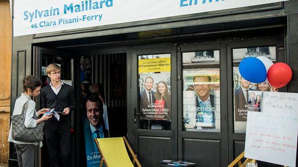 Tasavalta liikkeellä -puolueen kampanjatoimiston julkisivu.