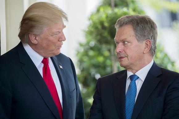 Видео: Donald Trump ja Sauli Niinistö tapasivat Valkoisessa talossa maanantaina.