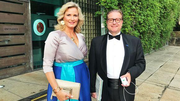 Oopperalaulaja Camilla Nylund ja pianisti Matti Hirvonen.
