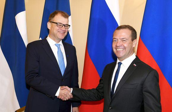 Juha Sipilä ja Dmitri Medvedev.