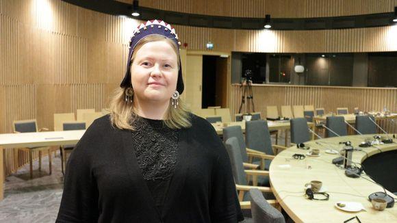 Suomen saamelaiskäräjien puheenjohtaja Tiina Sanila-Aikio