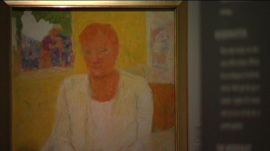 Porträtt över Tarja Halonen målat av Rafael Wardi