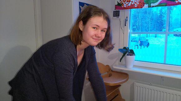 Sara Keränen lii pargohárjuttâlmin Avveel kielâpiervâlist.