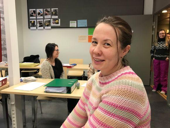 Elle-Mari Aikio-Jumisko opiskelee saamea Saamelaisalueen koulutuskeskuksessa