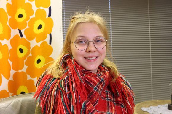 Viola Ukkola osallistui metsälappalaisten ensimmäisen työpajaan Sodankylässä 17.2.2019.