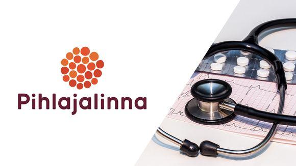 Pihlajalinnan logo ja stetoskooppi