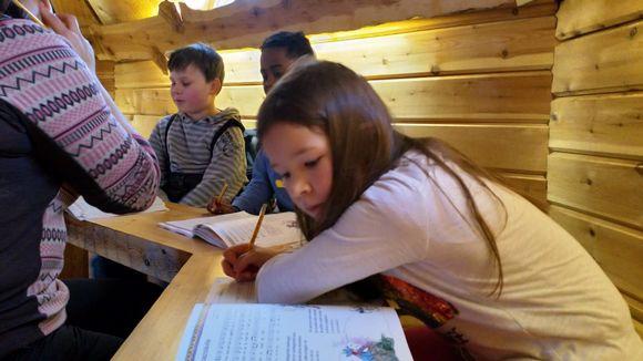 Elle-Matilda Näkkäläjärvi opiskelee.