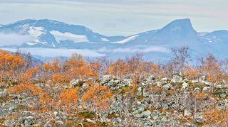 Landskap i Kilpisjärvi i Lappland den 11 september 2016.
