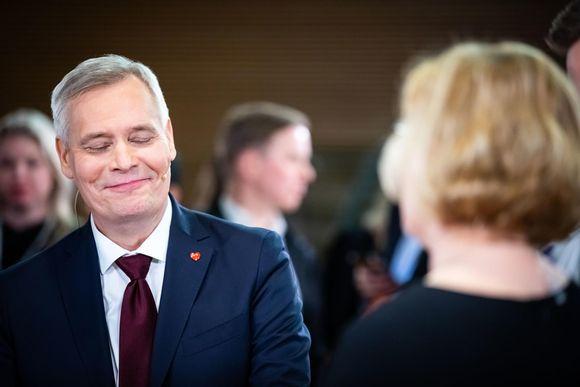 Eduskuntavaalit 2019. Pikkuparlamentin tulosilta. Voittaja SDP:n Antti Rinne.