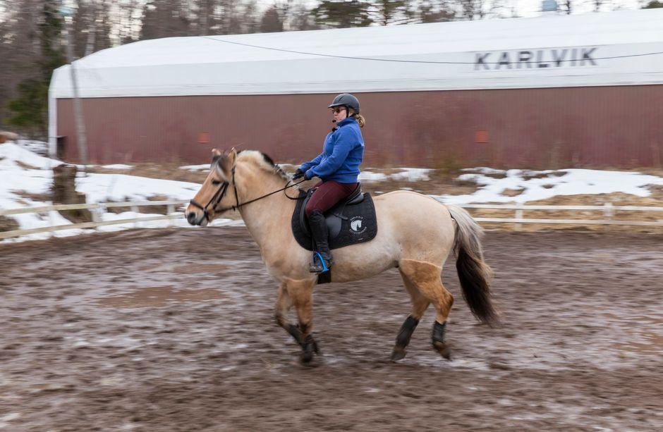 Jenny Kärkkäinen, vammaisurheilija, ratsastaja, hevonen, Karlvikin ratsastustallit, FAS-diagnoosi