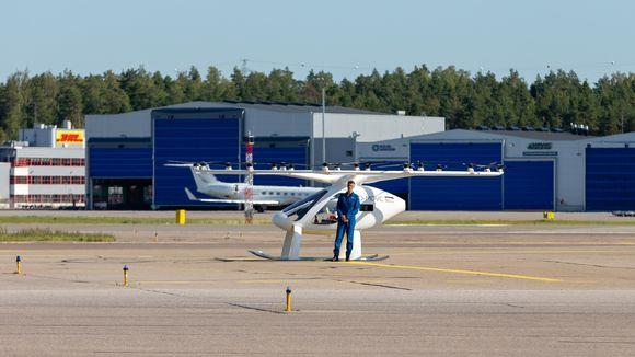 Volocopter ja testipilotti Damien Hischier