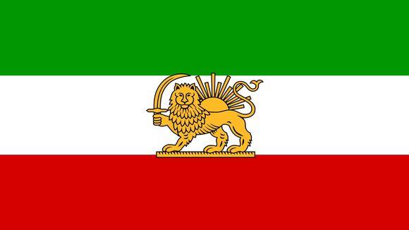 Irans flagga 1964-1980.