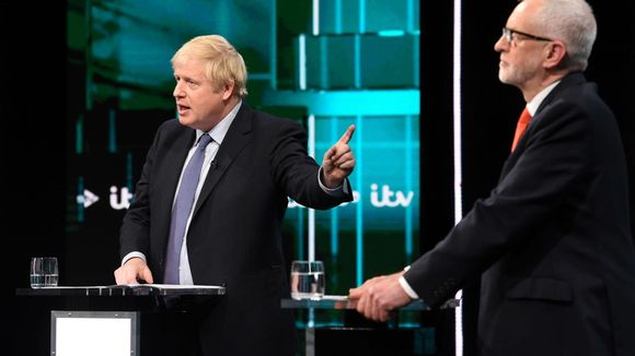 Corbyn ja Johnson ottivat eilen yhteen ensimmäisessä brittivaalien tv-tentissä.