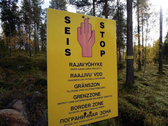 Rajavyöhyke Suomen ja Venäjän rajalla Inarissa. Kuva tämän vuoden syyskuulta.