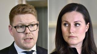Statsministerkandidaterna Sanna Marin och Antti Lindtman.