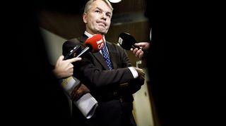 Ulkoministeri Pekka Haavisto ulkoasiainvaliokunnan kuultavana eduskunnassa Helsingissä 3. joulukuuta 2019. Valiokunnan ohjelmassa oli ajankohtaiskatsaus Syyrian tilanteeseen ja ulkoministeri oli kuultavana valiokunnassa.