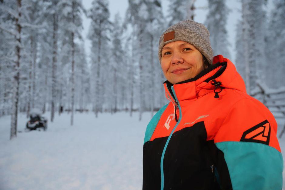 Tohtorikoulutettava ja Savukosken kunnaneläinlääkäri Hanna Nurmi.