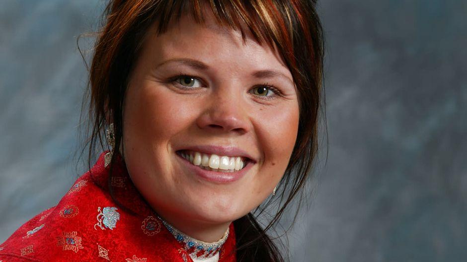 Petra Magga-VArs 2007 aloittamassa Saamelaiskäräjien ehdokkaana.
