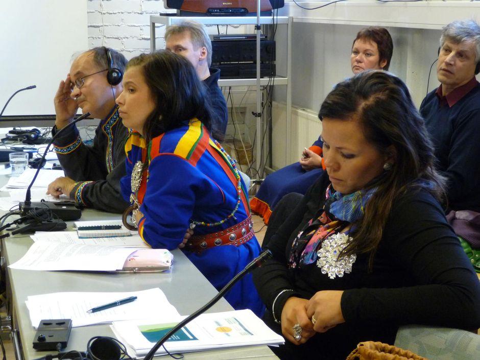 Saamelaiskäräjien istunto 2009.