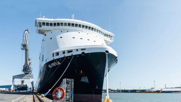 Rahtilaiva M/S ML Freyja Turun satamassa