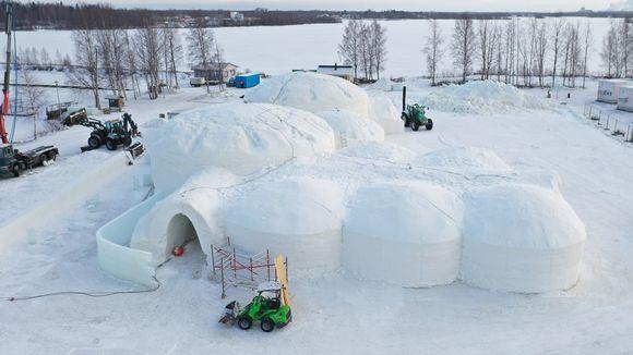 Kemin valmistuva Lumilinna