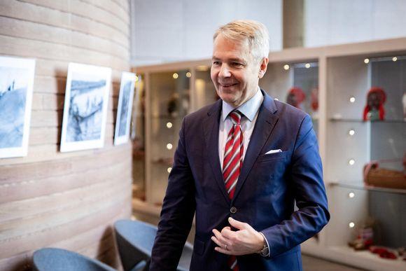 ulkoministeri Haavisto haastateltavana