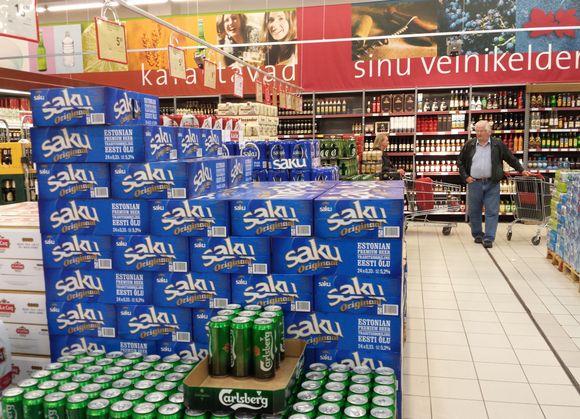 Alkoholimyymälä Tallinnassa.