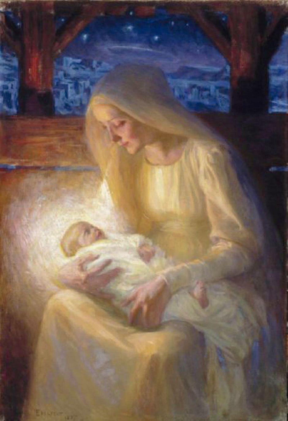 Albert Edelfeltin maalaus Maria ja lapsi