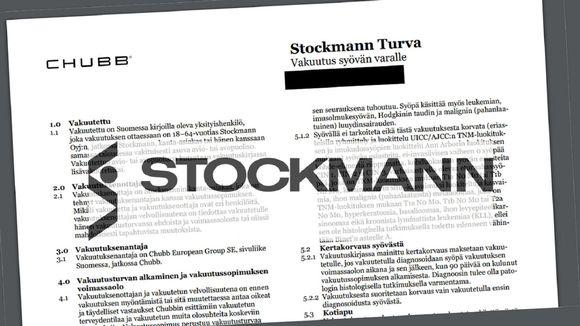"""Kansainvälinen vakuutusyhtiö myy """"syöpävakuutuksia"""" Stockmannin nimissä."""