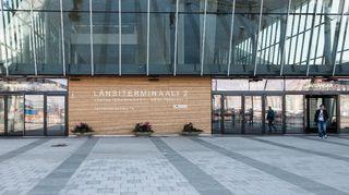 Helsingin uusi laivaterminaali länsisatamassa.