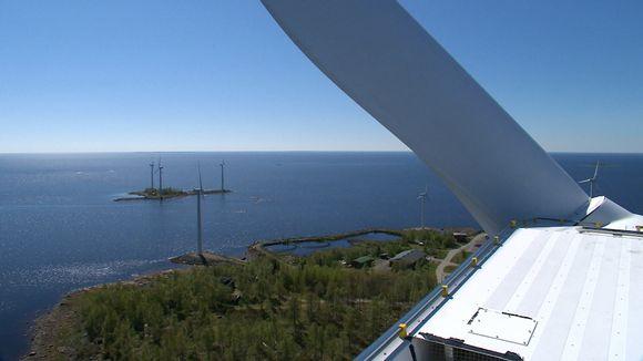 Perämeren pohjukan tuulivoimapuisto.