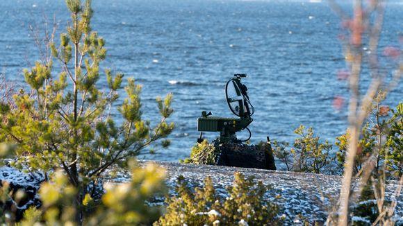 Rankin linnakesaaren eteläkärki, meritutka tähystämässä merelle.